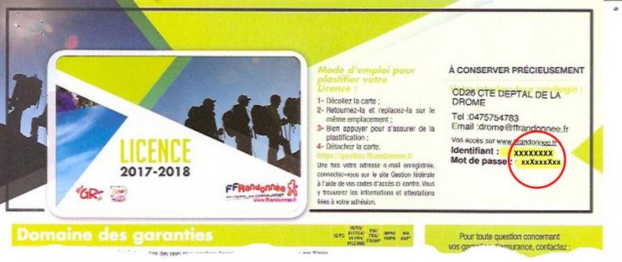 Licence individuelle ffrp